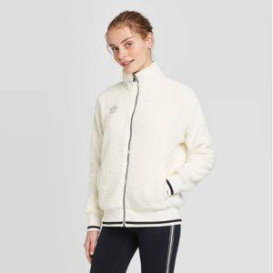 Umbro Full Zip Sherpa Bomber Jacket - White L